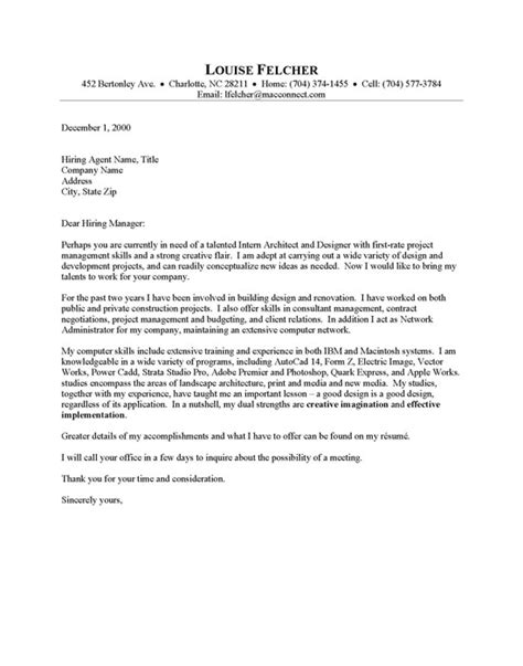 tips to write architecture cover letter