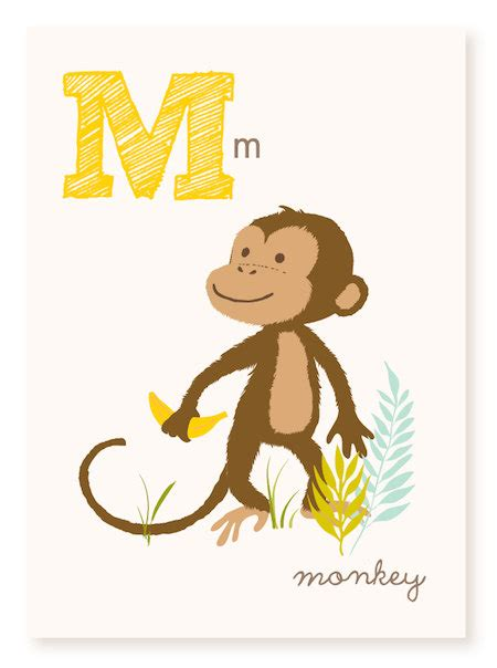 words of alphabet m mustaches and monkey free alphabet abc wall art abc card m is for monkey alphabet flash cards