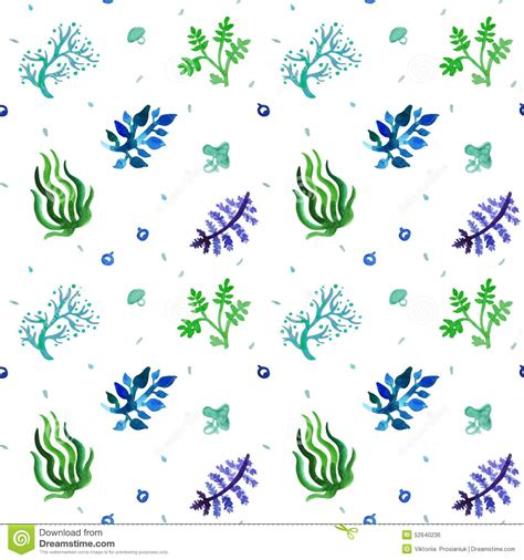 seamless nature pattern vector watercolor nature seamless vector pattern blue light
