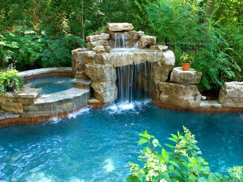 backyard pool and spa bloomington il blackbottom pool with grotto spa water water everywhere
