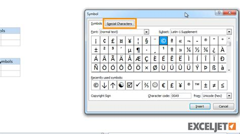 find font from image excel tutorial how to insert symbols and special