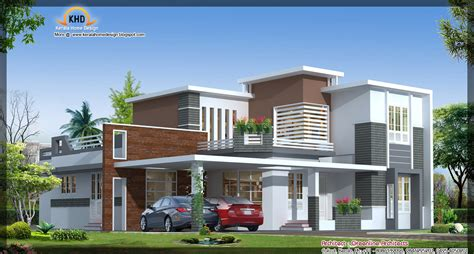 contemporary house elevation 2942 sq ft home appliance