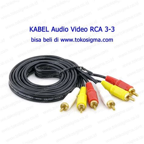 Kabel 3 1 3 Rca To 3 5 Mm Aux Mini Stereo Audio Cable kabel av rca composite 3 3 1 4 meter toko sigma