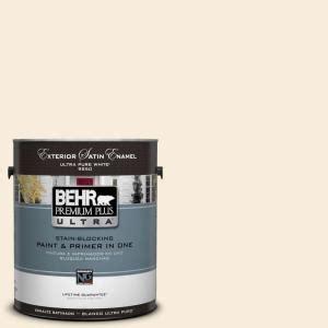 behr premium plus ultra 1 gal ul160 10 polished pearl satin enamel exterior paint 985001 the