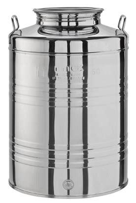 contenitori in acciaio per alimenti contenitori acciaio inox per olio ed alimenti lt 50