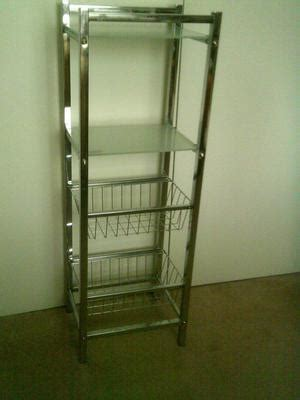 chrome bathroom storage 4 tier freestanding chrome bathroom storage shelf posot