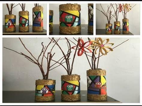 floreros tubos de carton hermosos jarrones en tubo de cart 211 n grueso youtube