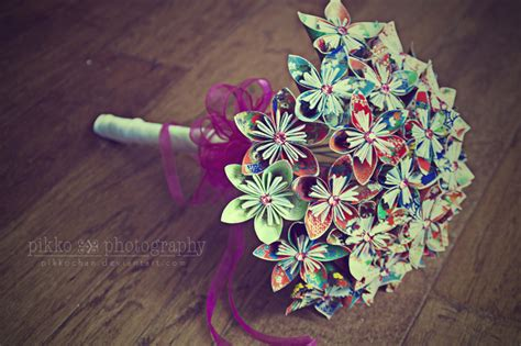 Bouquet Origami - origami bouquet by pikkochan on deviantart