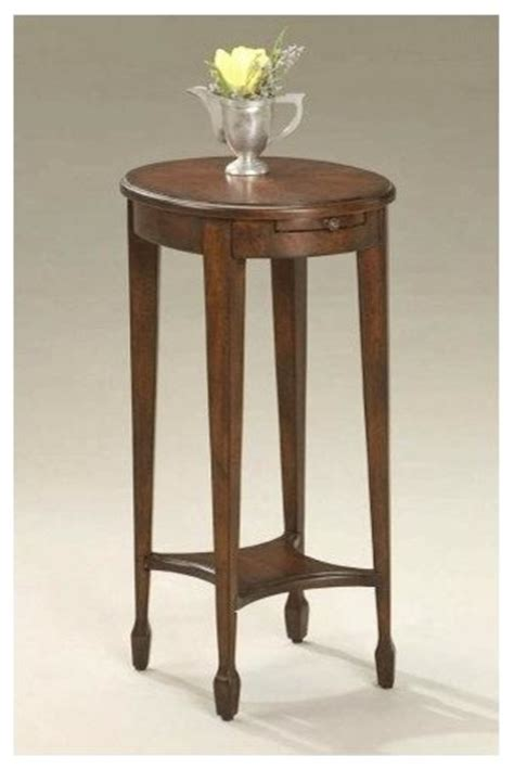 tall accent tables tall accent table w lower storage and pull out shelf