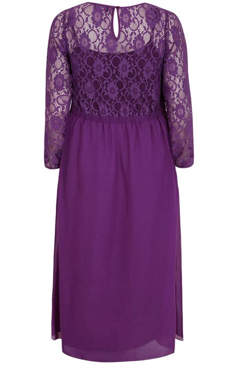 Purple Maxi Dress purple lace maxi dress with embellished waist plus size 16