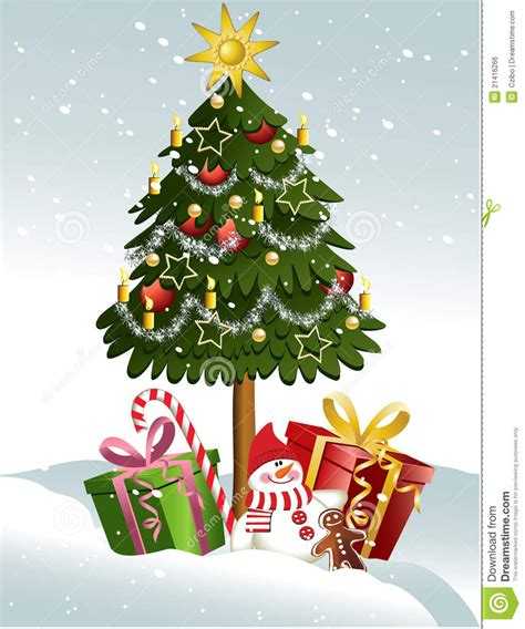 cartoon christmas tree december tree stock vector image of december 21416266