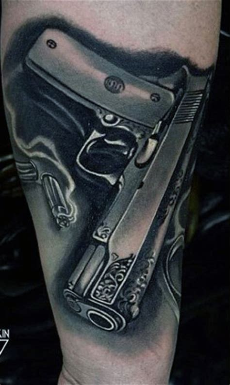 gun tattoos for men 50 gun tattoos for explosive bullet design ideas