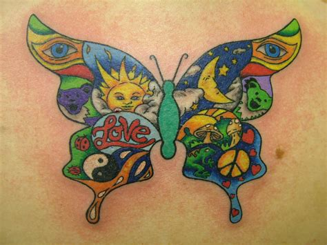 hippie tattoo tatoos beautiful butterfly designs