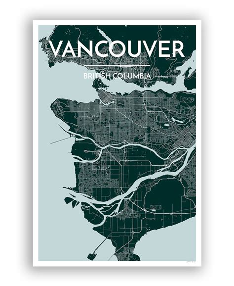 poster design vancouver vancouver city map vancouver city city maps and city