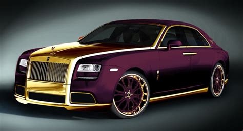roll royce milano one off 24k gold rolls royce ghost purple by fenice milano