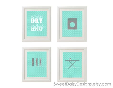 free printable laundry wall art printable laundry room wall art 4 laundry prints 12 00