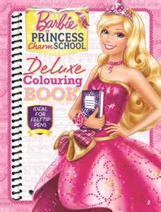 booktopia barbie princess charm deluxe colouring book ideal felt tip pens