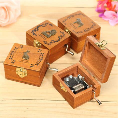 mini wooden novelty crank diy slide drawer box