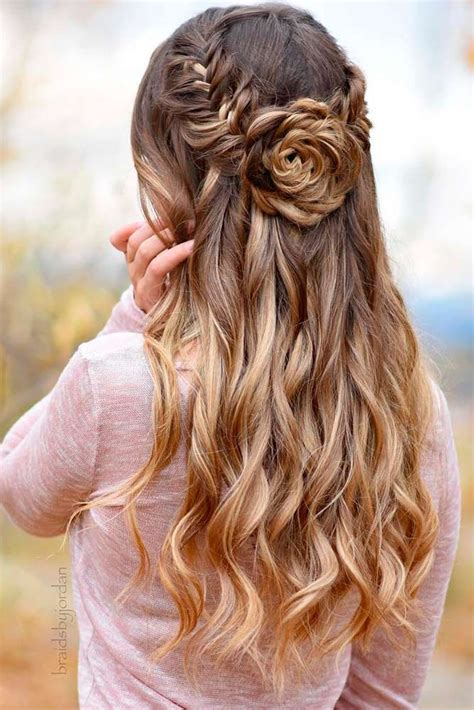long down hairstyles for prom 65 stunning prom hairstyles for long hair for 2018 prom