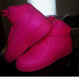 all color air ones shoes nike nike high tops nike air 1 all pink