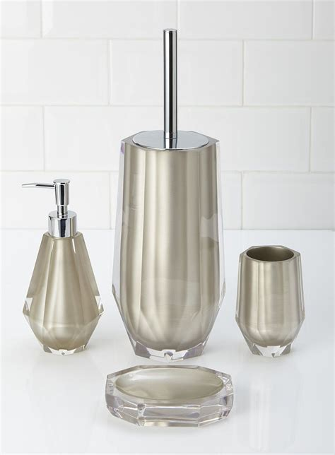 Bhs Bathroom Accessories Bhs Bronze Resin Teardrop Set Soap Dispenser Toilet Brush Tumbler Soap Dish Bathroom
