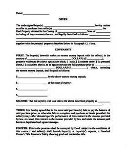 Template Letter Of Offer Agreement Real Estate Offer And Acceptance Contract Template Sle Templates