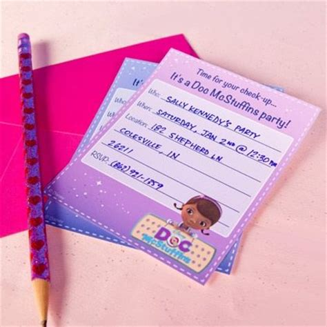 Doc Mcstuffins Thank You Card Template by 20 Best Mcstuffins Invites Thank You Notes Images