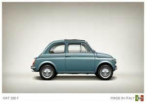 Fiat 500 F Car Illustration Cartype