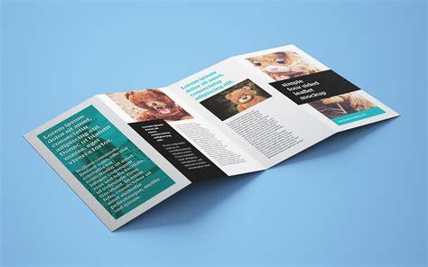 accordion card psd templates free free accordion 4 fold brochure leaflet mockup psd