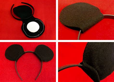 How To Make Mickey Mouse Ears With Construction Paper - minnie mouse ears headband template studio design