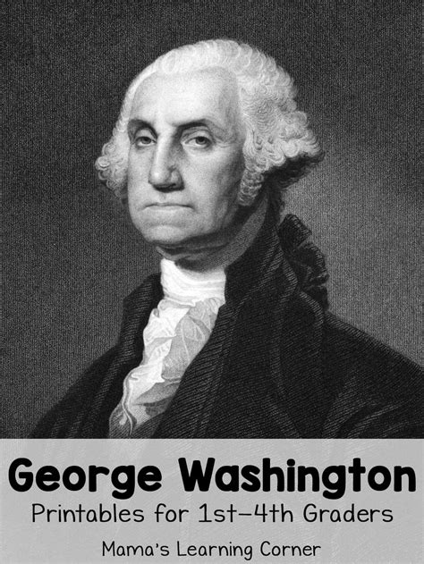 biography of george washington for first graders george washington worksheets mamas learning corner
