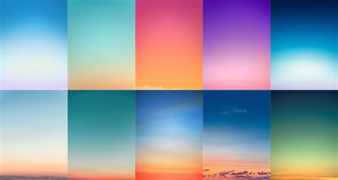 color of sky beautiful minimal photographs of sunsets for color