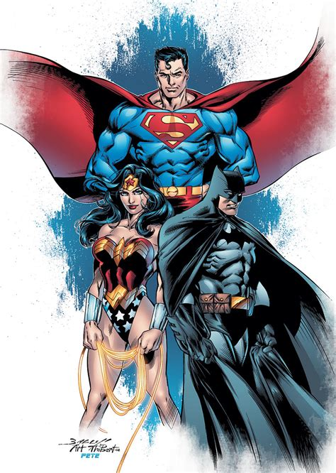 dc comics art by mike zanotelli trinity dc comics group picture image by tag