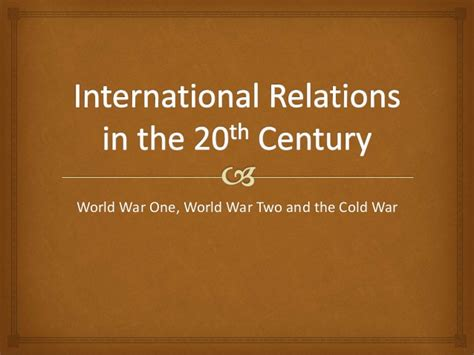 20th century world history the cold war for the ib diploma pearson international baccalaureate diploma international e books international relations in the 20th century