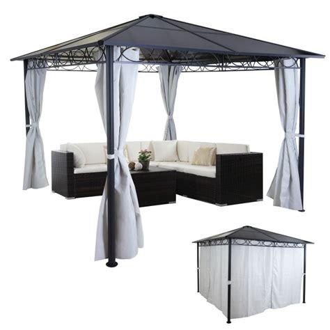 alu pavillon 3x3m hardtop pergola hwc c77 garten pavillon kunststoff dach