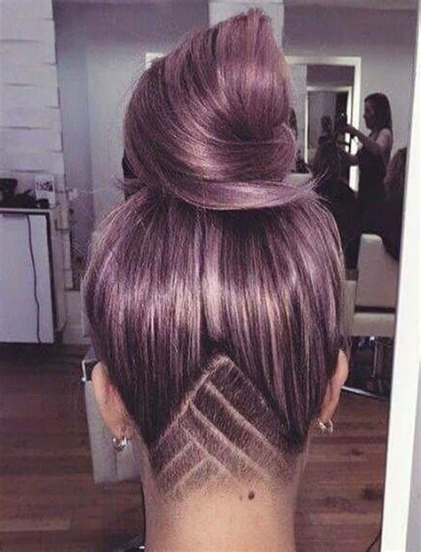 female haircut designs in hair undercut hairstyle ideas with shapes for women s hair in