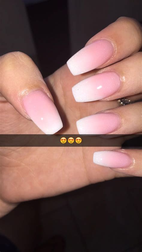 Pedi Trend Of The Moment White by New Coffin Nails Ombre White Pink My Nails