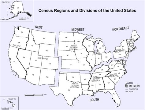 5 regions of the united states printable map 5 us regions blank map