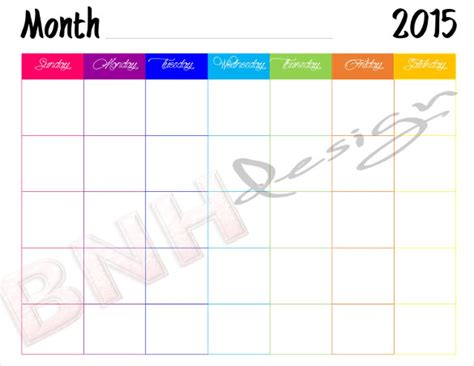 colorful printable weekly planner 39 blank calendar template free premium templates