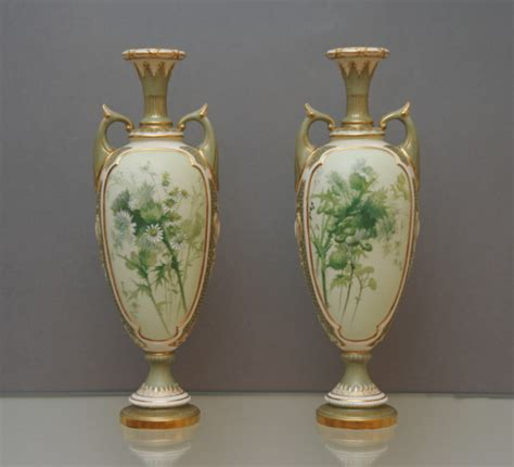 Royal Worcester Vases by A Pair Of Royal Worcester Vases C 1900
