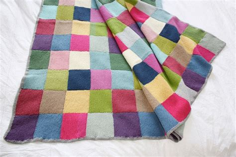 Knitting A Patchwork Blanket - patchwork blanket 183 extract from winter knits made easy by