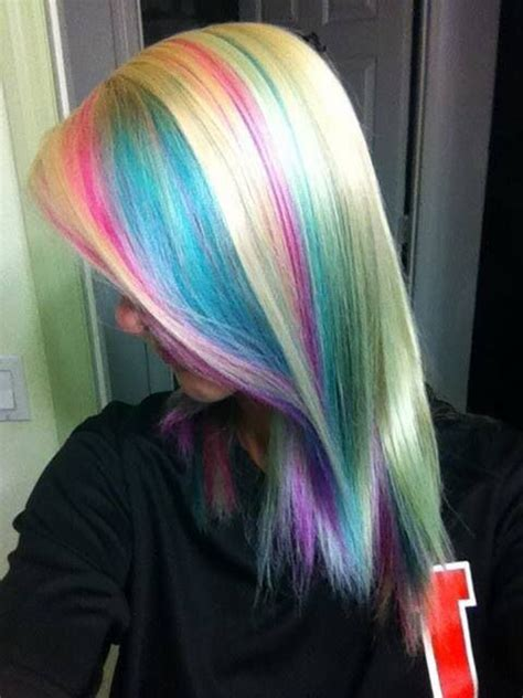 pastel hair colors for women in their 30s pastel highlights hair color pinterest pastel