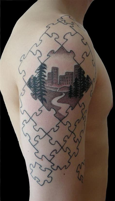 31 cool puzzle piece tattoos desiznworld