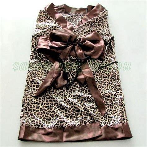 Kimono Babydoll Leopard asian japanese costume free shipping