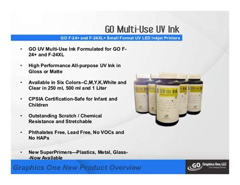 Nobu Ink Uv Tinta Uv Multi Purpose 1 new go f 24 go f 24xl small format uv inkjet printer