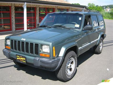 2000 green jeep 2000 medium fern green metallic jeep sport 4x4