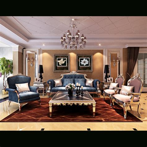 royal living room 3d model max cgtrader