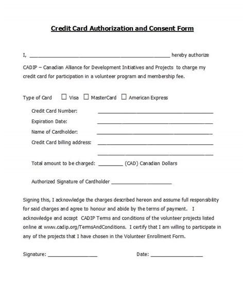 41 Credit Card Authorization Forms Templates Ready To Use Credit Card Authorization Form Template