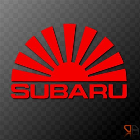 Subaru Rising Sun Arc Vinyl Decal Sticker Jdm Impreza