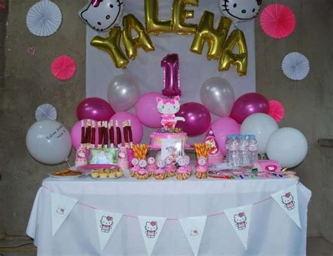 kitty themes ideas hello kitty birthday quot yalena s first birthday party a